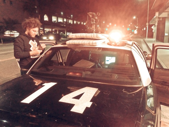 Jordi Esgleas Marroi LAPD car