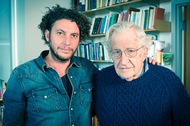 Freightened Jordi Esgleas Marroi and Noam Chomsky