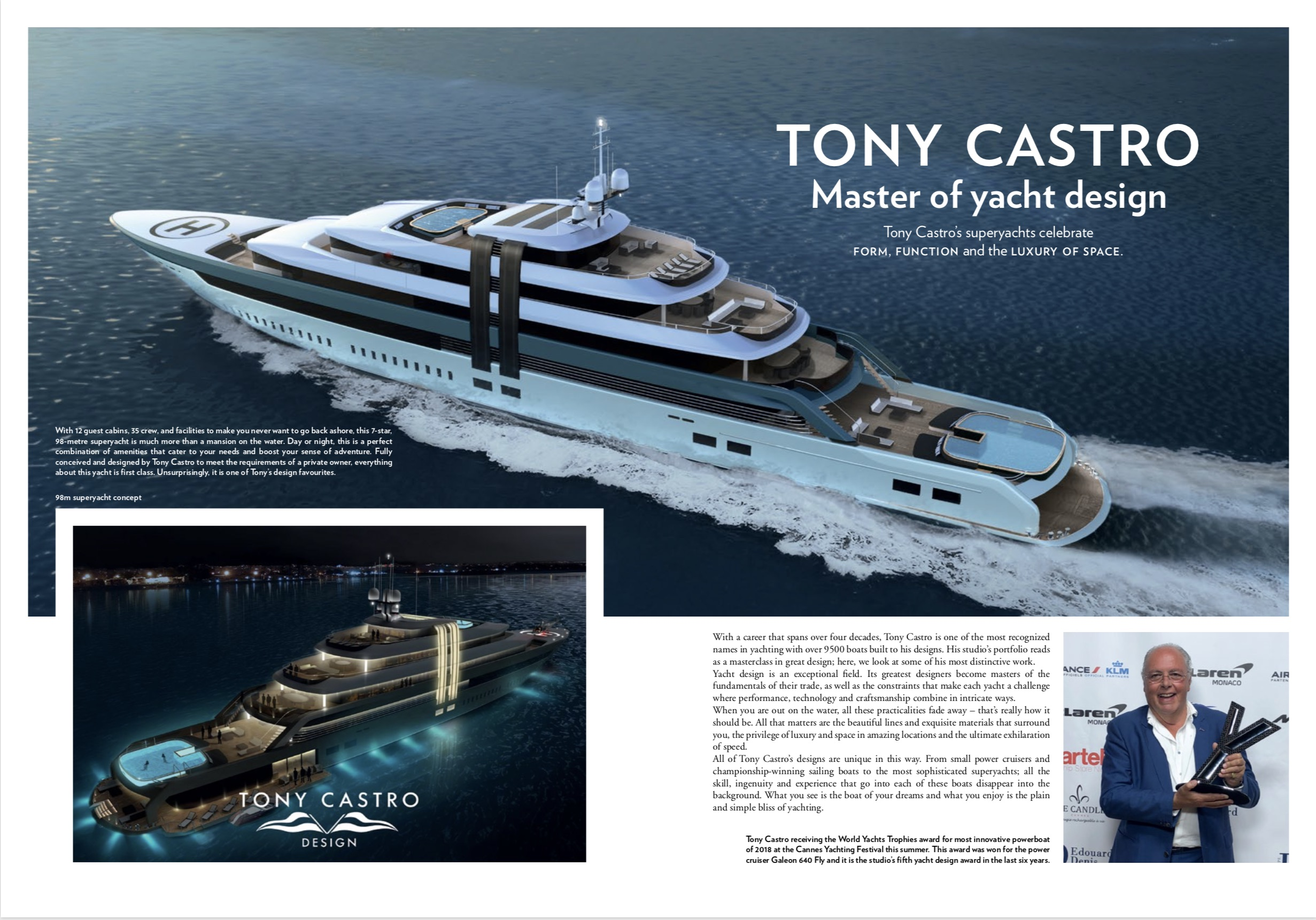 Advertorial for Tony Castro Yacht Design 1