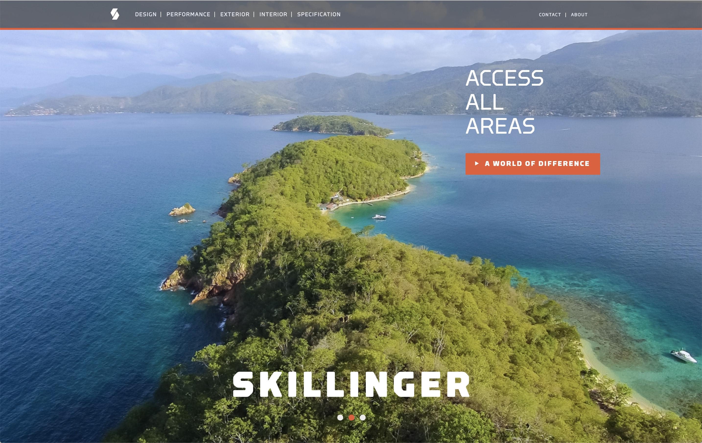 Skillinger website - Hero shot